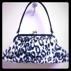 Retro faux cheetah handbag NEW